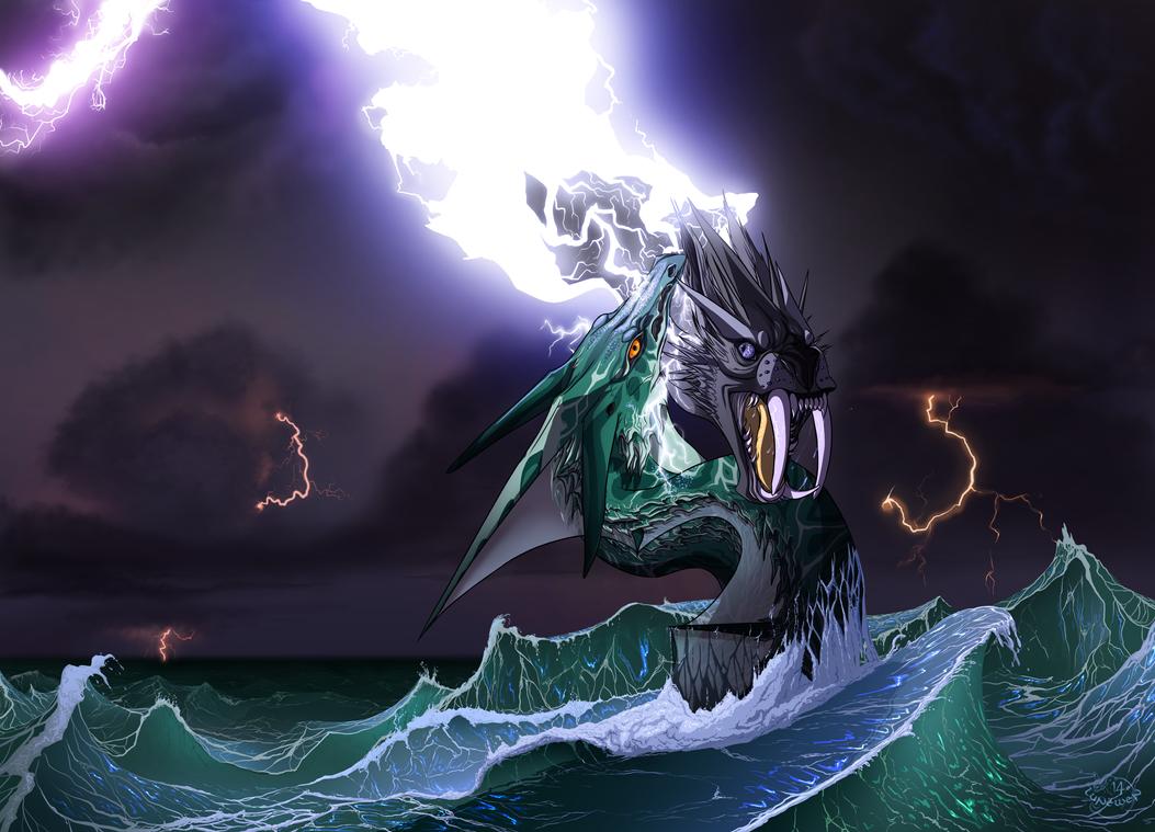 Sea storm by Lunewen
