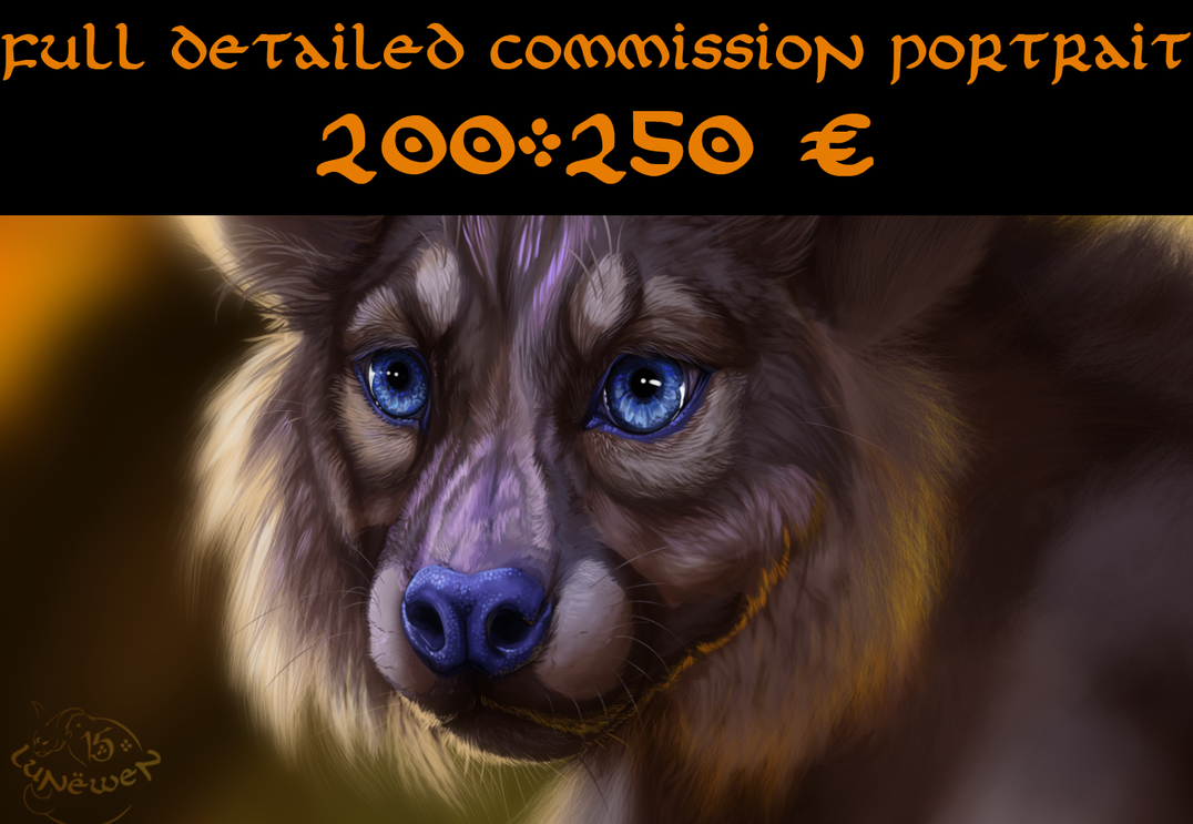 Detailed portrait commission OPEN by Lunewen