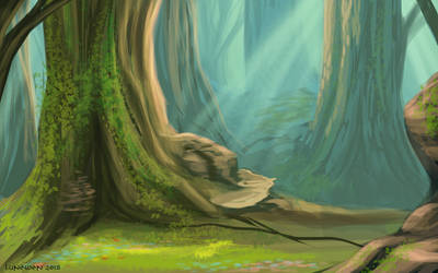 Enchanted wood - speedpaint