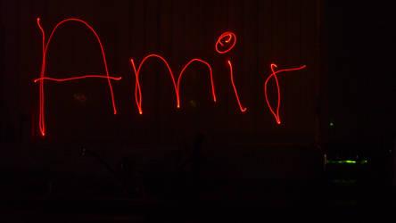 Red laser, deviantID 2 by Amzypop