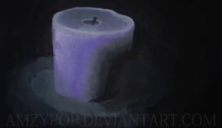 Candle, lit from above by Amzypop