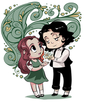 Fanart - Snape and Lily by purplerubyred