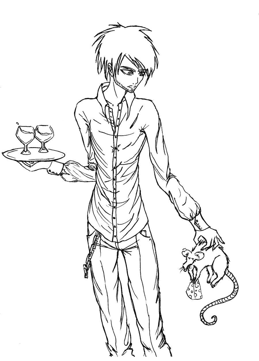 Lineart Anime Boy : Boy lineart by xxanaa on deviantart