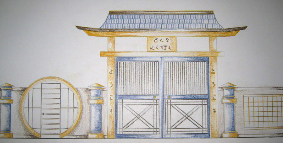Japanese gate design pictures to pin on pinterest pinsdaddy for Japanese gates pictures