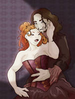 Long fanged lovers by Caravaggia