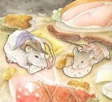 Rat des villes, rat des champs by Caravaggia
