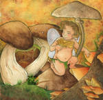 Mushrooms Fairy by Caravaggia