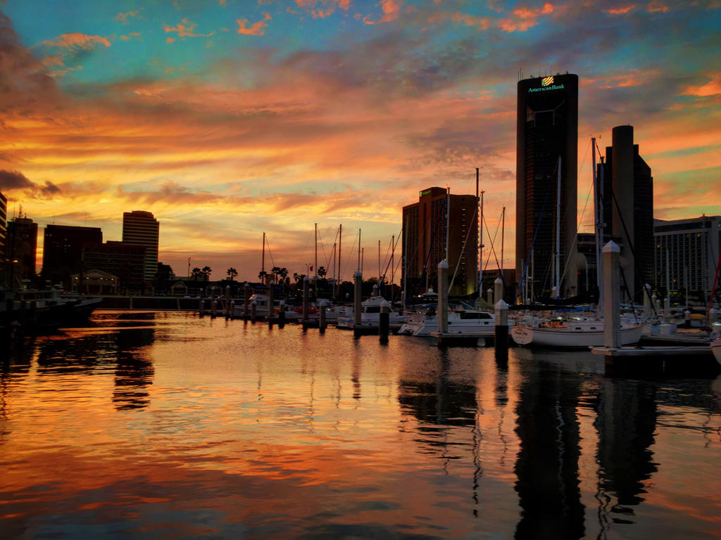 Harbor Sunset by Zenfilm