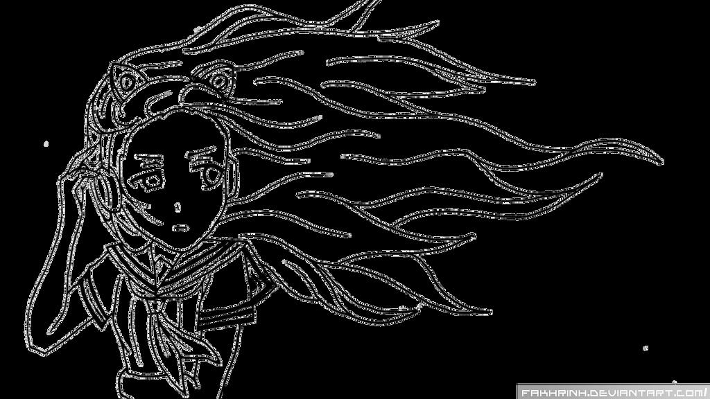 Anime Girl Lineart : Music anime girl lineart by fakhrinh on deviantart