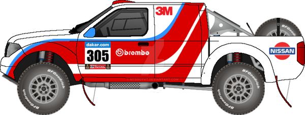 1414297b5e2 Nissan navara 2 dakar rally car by mtbboyvt on DeviantArt
