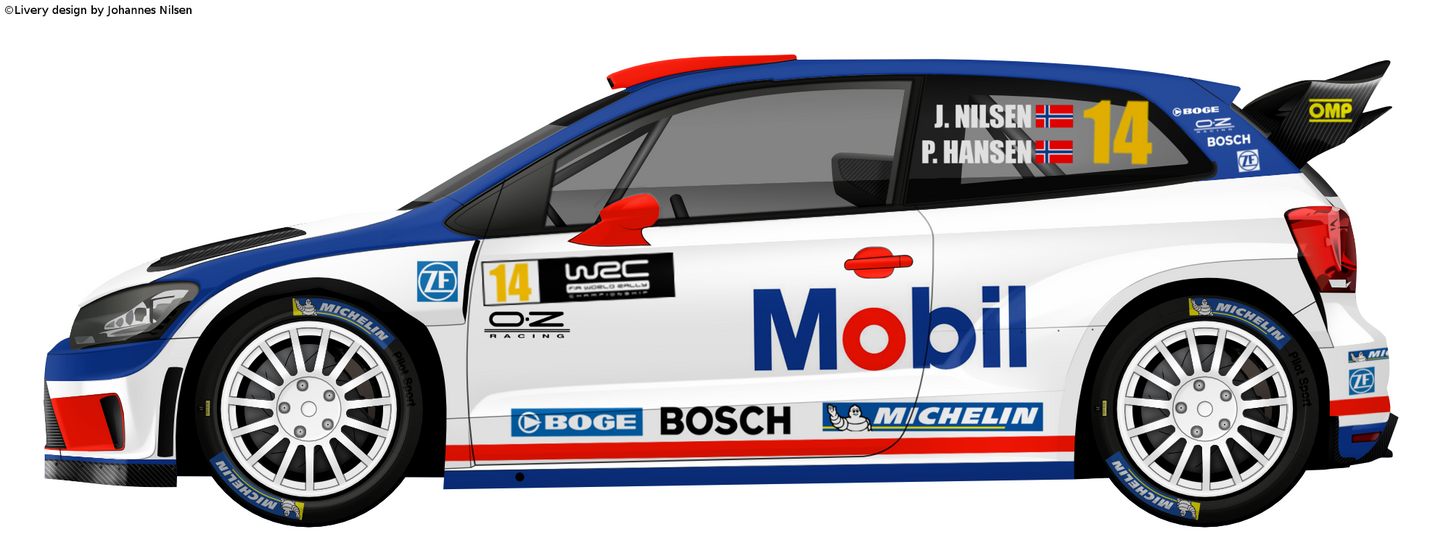 Volkswagen Polo WRC Mobil Racing design 2 by mtbboyvt