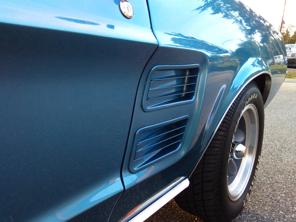 1967 Ford Mustang Blue Side Louvers by mtbboyvt