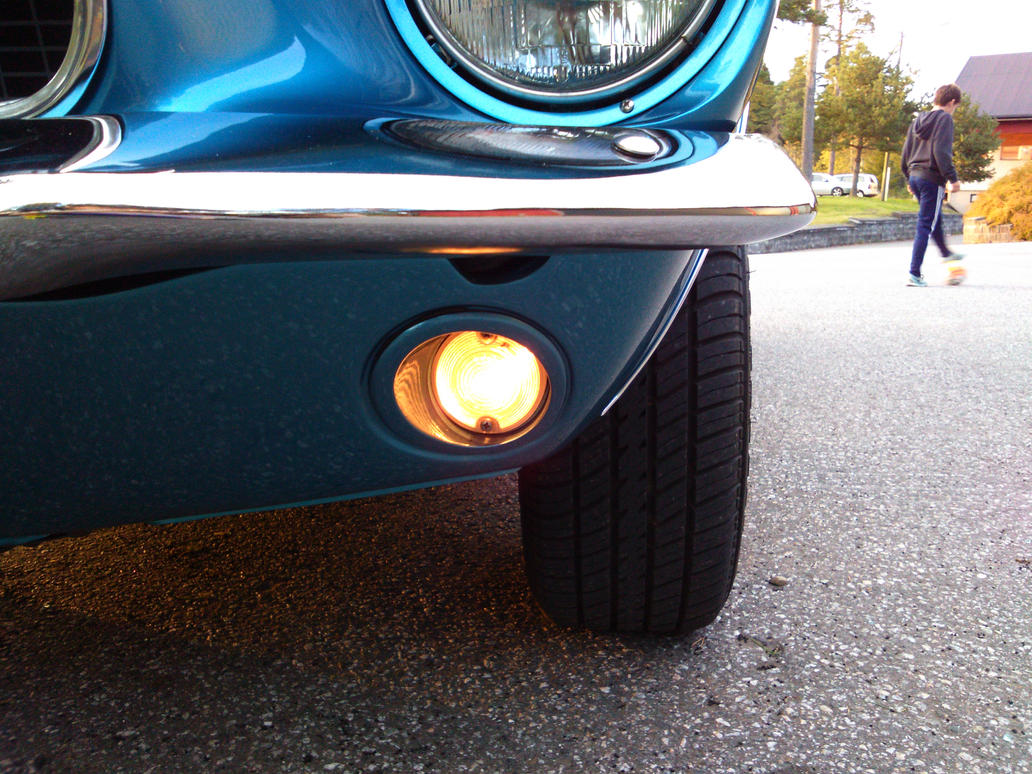 1967 Ford Mustang Blue small light turned on 1 by mtbboyvt