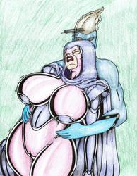 Psylocke In the clutches of Janx by Tazirai