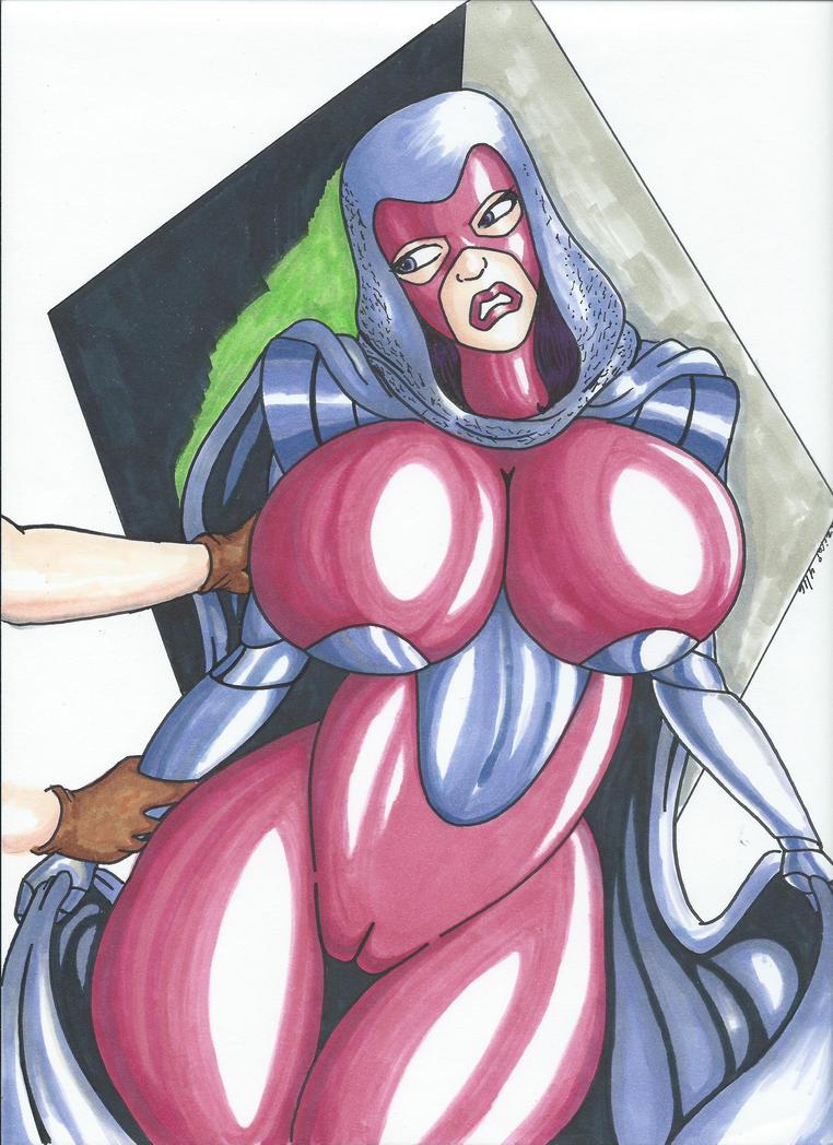 Psylocke Peril Pinup 1 by Tazirai