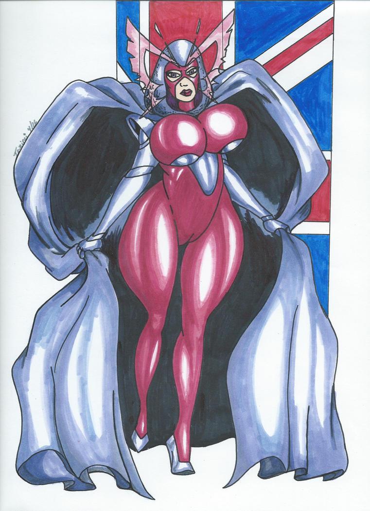 Psylocke Peril Pinup 3 UK girl by Tazirai