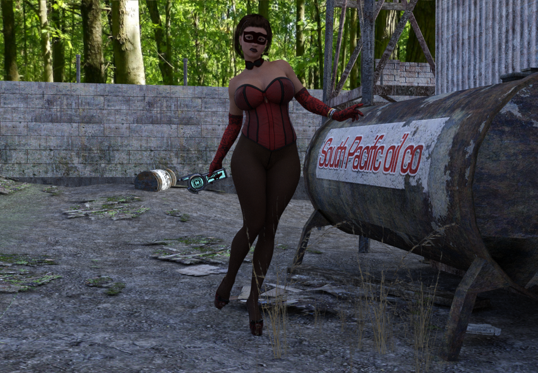 Woman in Red IRAY test WIP by Tazirai