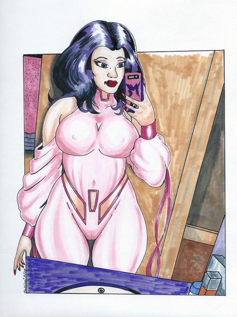 Psylocke Selfie Issue 213 by Tazirai