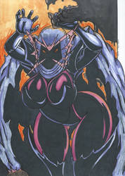 Psylocke Inferno series Pic 4 Scaring Kids by Tazirai