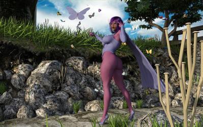 Psylocke Lady Butterfly test by Tazirai