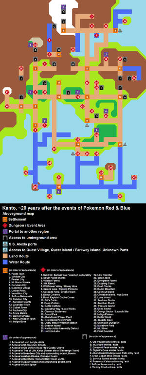 Kanto 20 Years Later - Pokemon Azure Sky