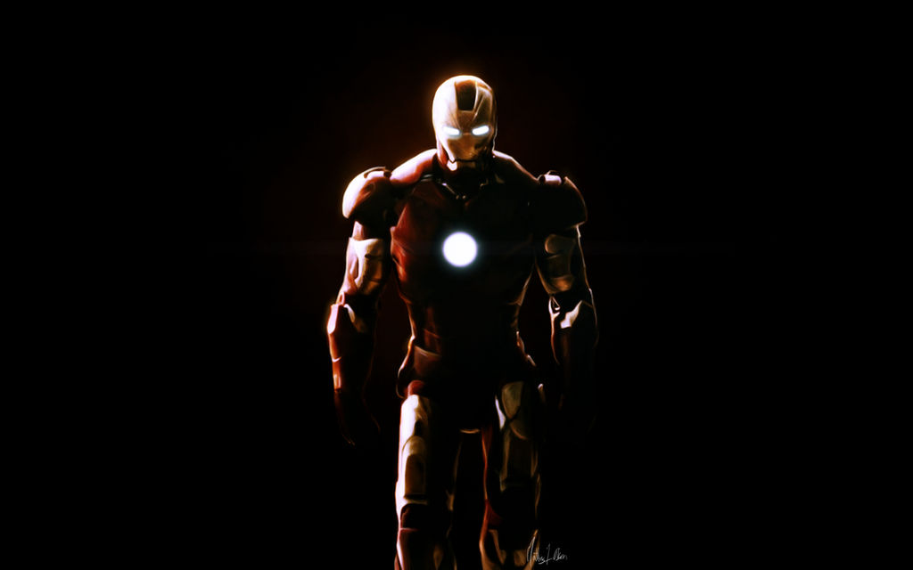 Iron man - painting by Lasse17