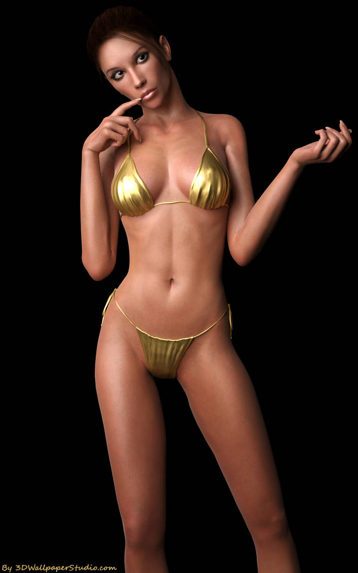 Pretty in gold by 3DWS