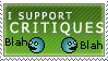 I Support Critiques Stamp