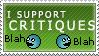 I Support Critiques Stamp by BackAlleyScrapper