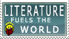 Literature Fuels Stamp by BackAlleyScrapper