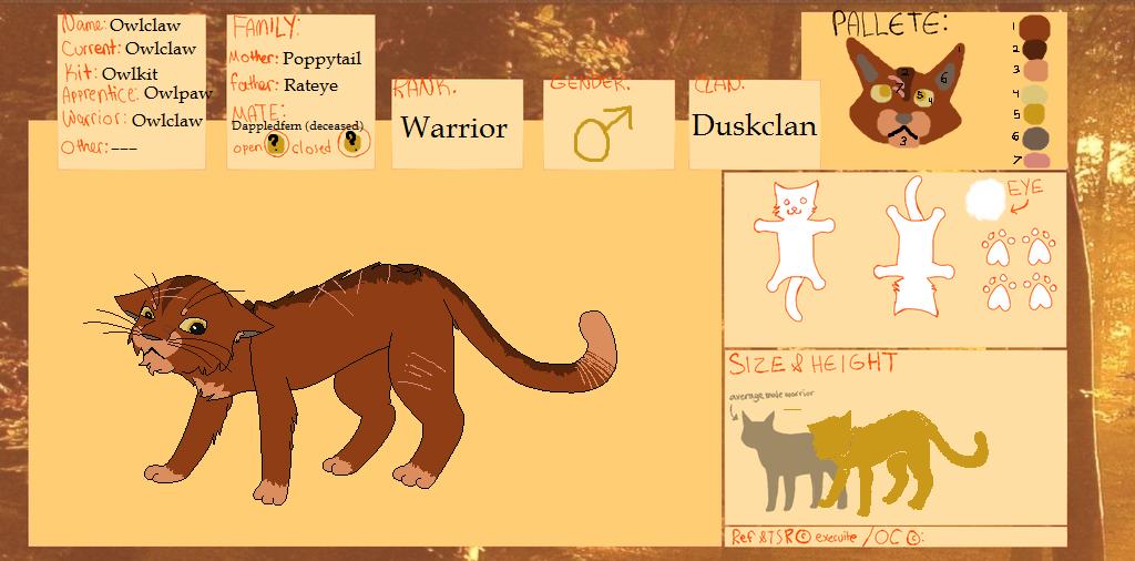 TSR | Owlclaw |Duskclan by TurkFish