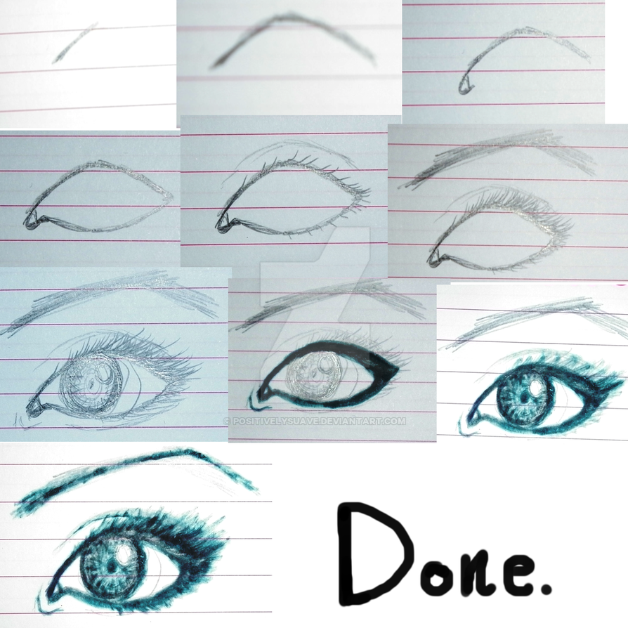 Eye Drawing - Step-By-Step. by PositivelySuave on DeviantArt