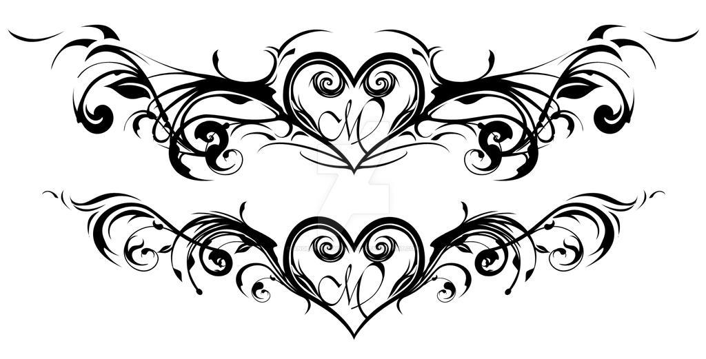 Heart Flourish Tattoo Design Angelinwutherland
