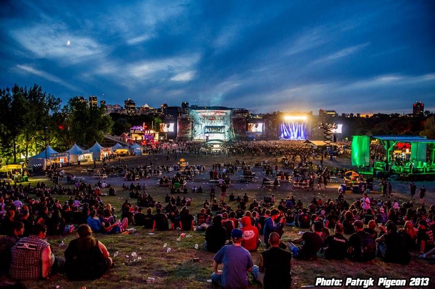 HEAVY MTL 2013 Festival at night