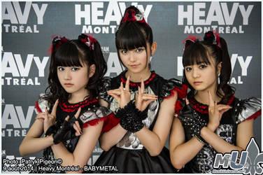 Babymetal at HEAVY MONTREAL 2014