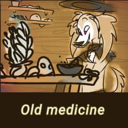 Inktober 2019: day 16 - Old medicine (WIP)