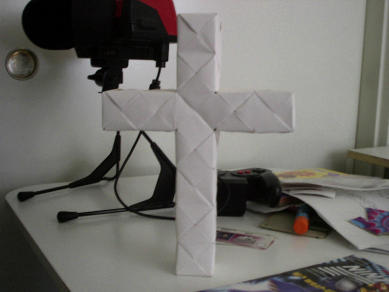 Origami Cross By Origamidude On Deviantart