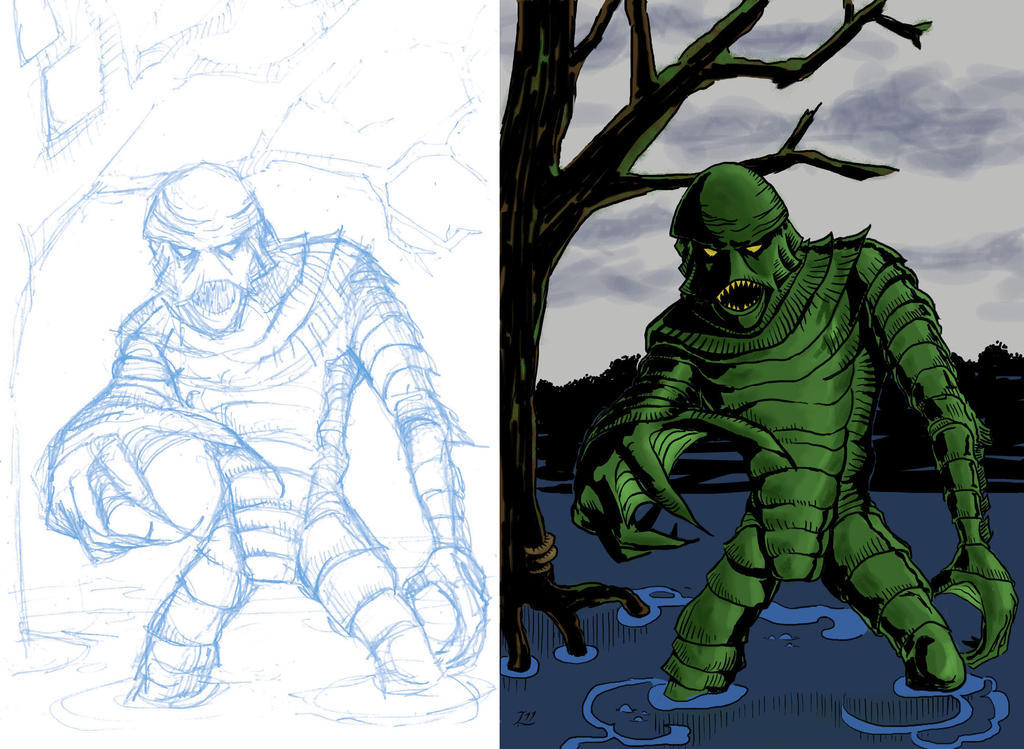 Creature from the black lagoon by stevendavich on deviantart for Creature from the black lagoon coloring pages