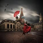 Flying umbrella by Mr-Bastos