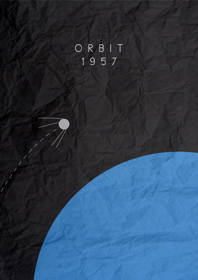 Sputnik minimalist poster by chris3290 on deviantart for Art post minimalisme