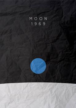 Moon landing minimalist poster
