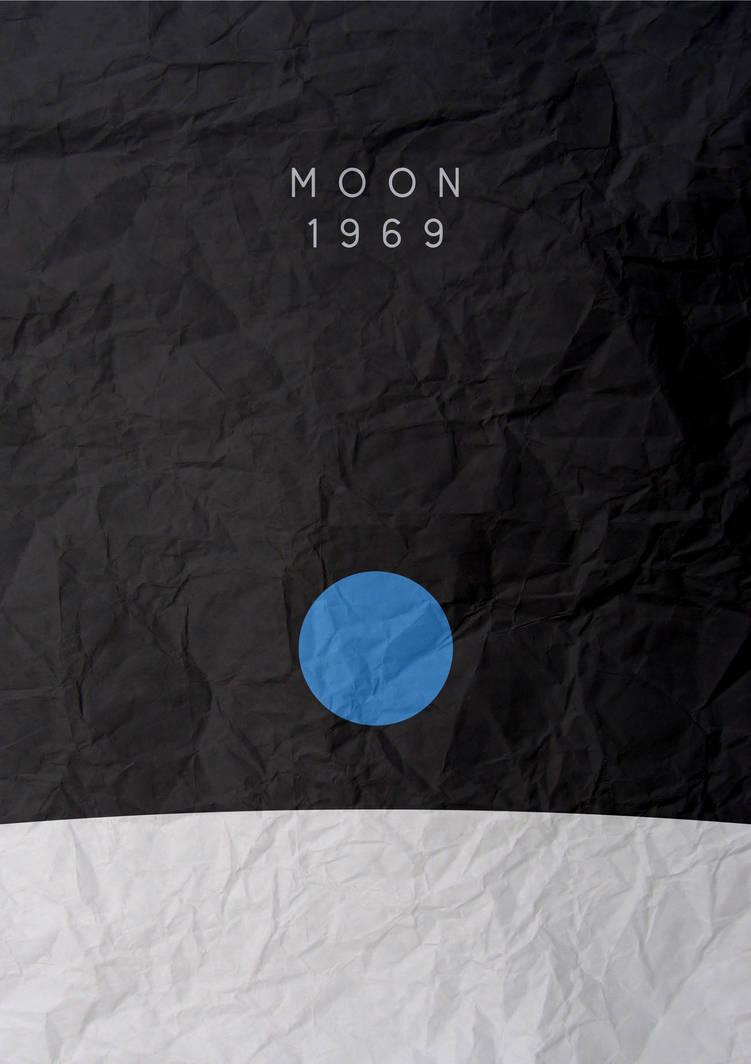 Moon landing minimalist poster by chris3290