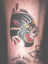 Traditional Panther Tattoo by chris3290