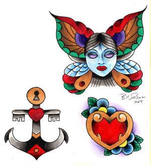 traditional tattoo flash 1
