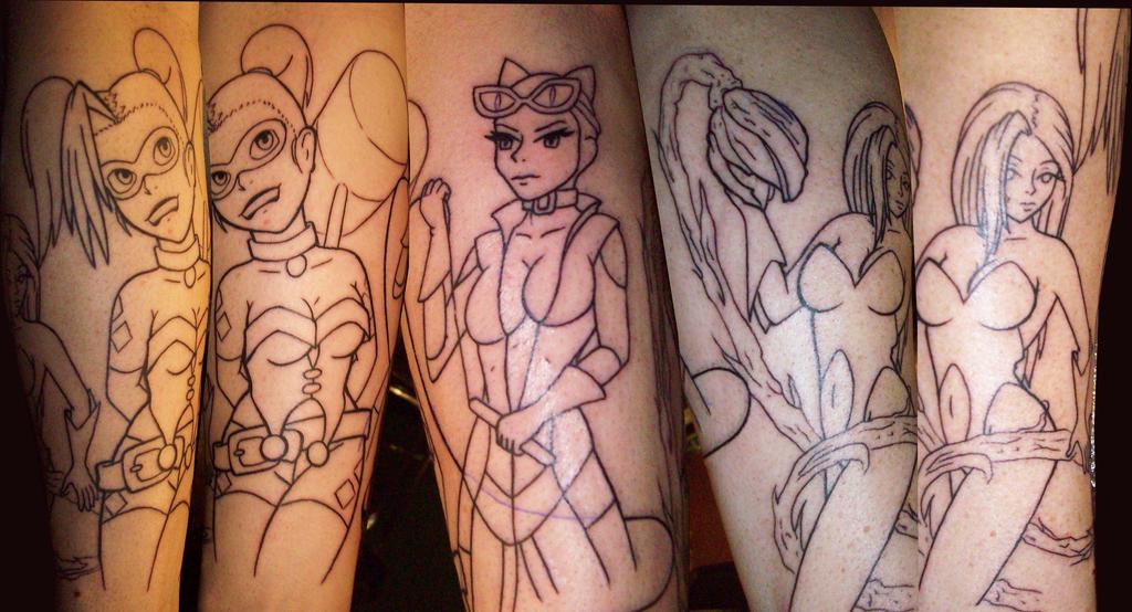Batman girls tattoo by tattedrebel12bill on deviantart for Female batman tattoos