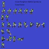 Clove Pronghorn Battle Sprites