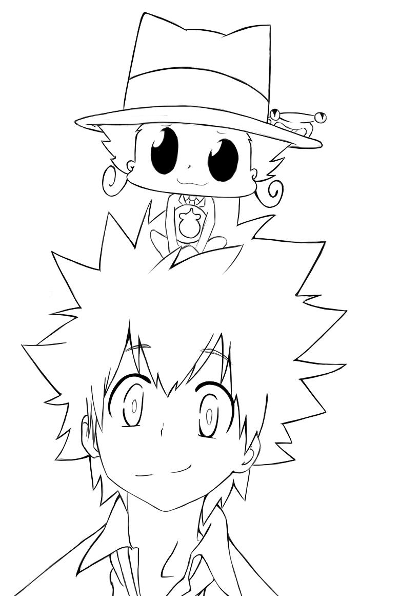 KHR:Sawada Tsunayoshi and Reborn by Dino-tyan