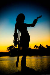 Yuna Silhouette by gaming-goddess