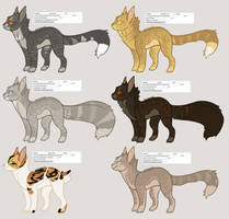 Warrior Cat Fundraiser Adopts III : Closed! by Piney-licious