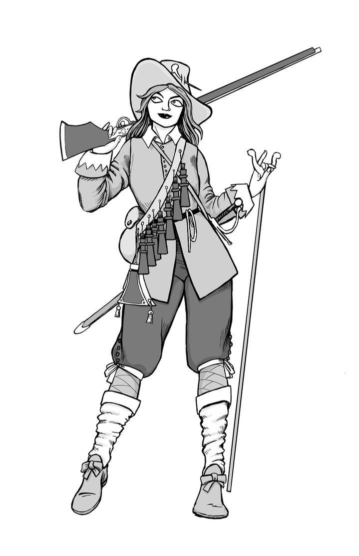 English Civil War Musketeer by warriorneedsfood